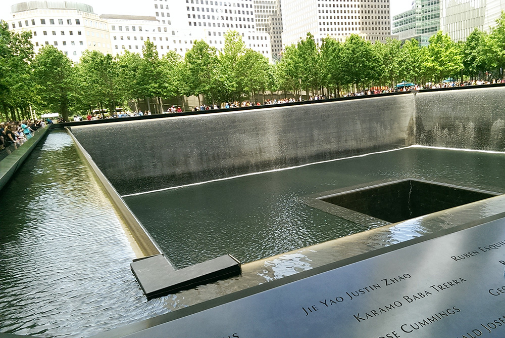 The 911 Memorial in New York City